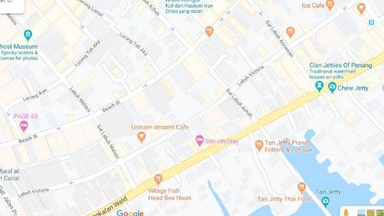 peta penginapan Sim CityStay