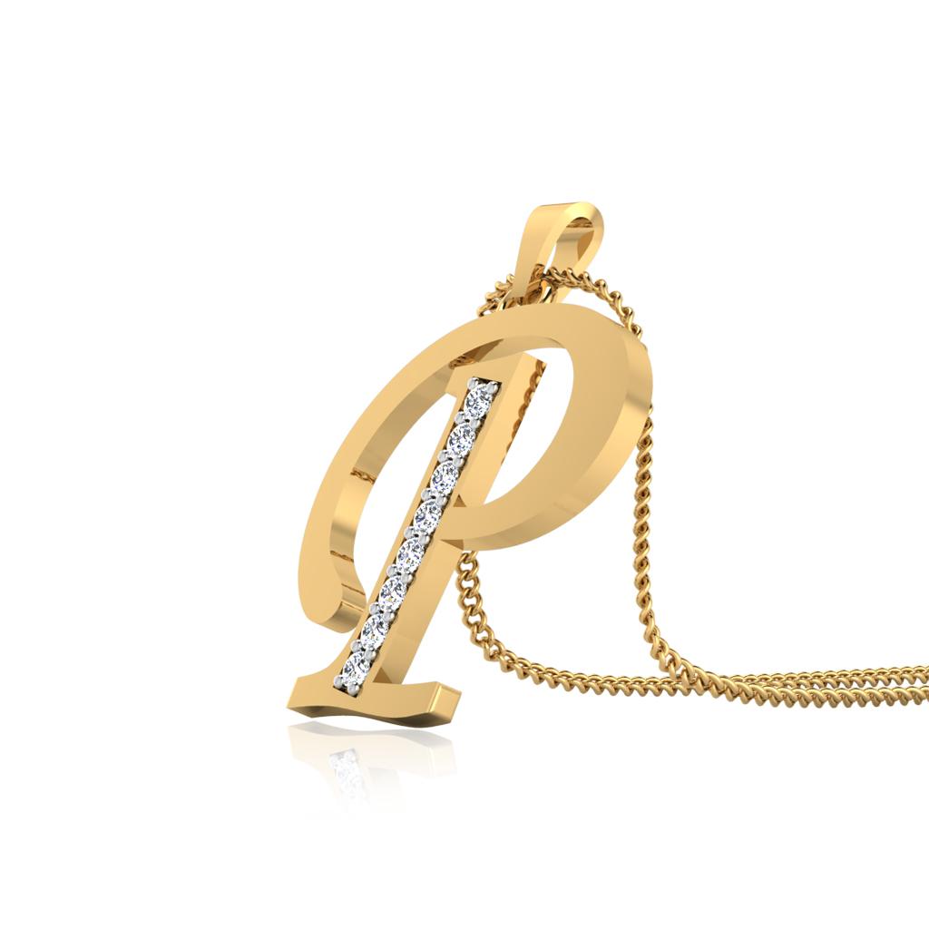 The Classy P Diamond Pendant