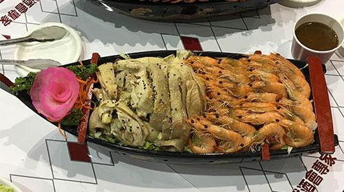貴妃油雞+醉蝦拼盤
