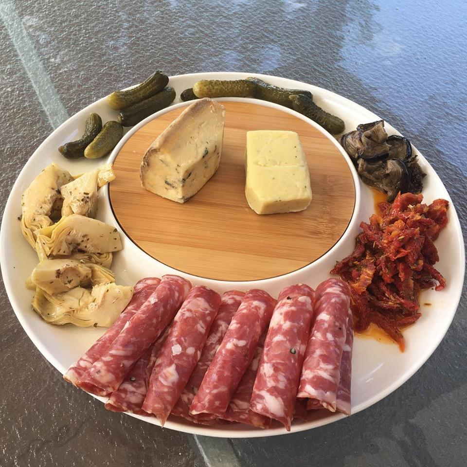 Cheese and antipasto platter