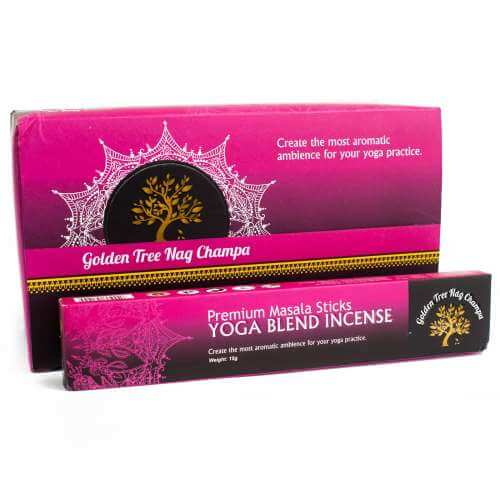 Golden tree premium nag champa incense - yoga blend