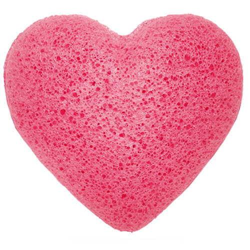 konjac sponge heart - rose