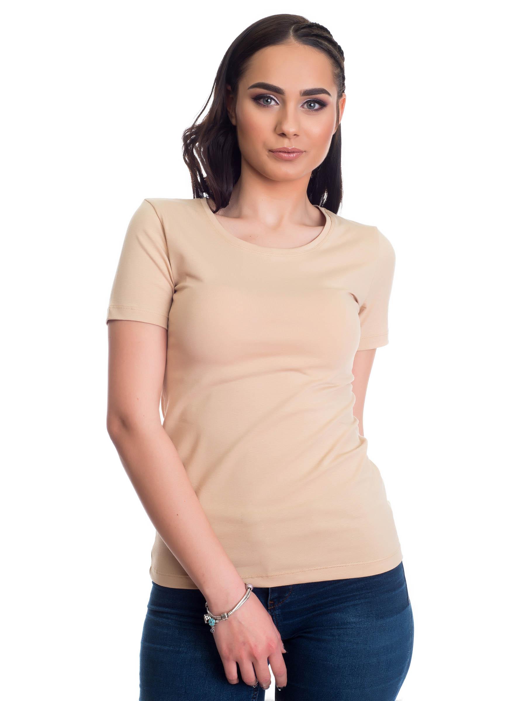 Evoni Kurzarmshirt mit Rundhals-Ausschnitt