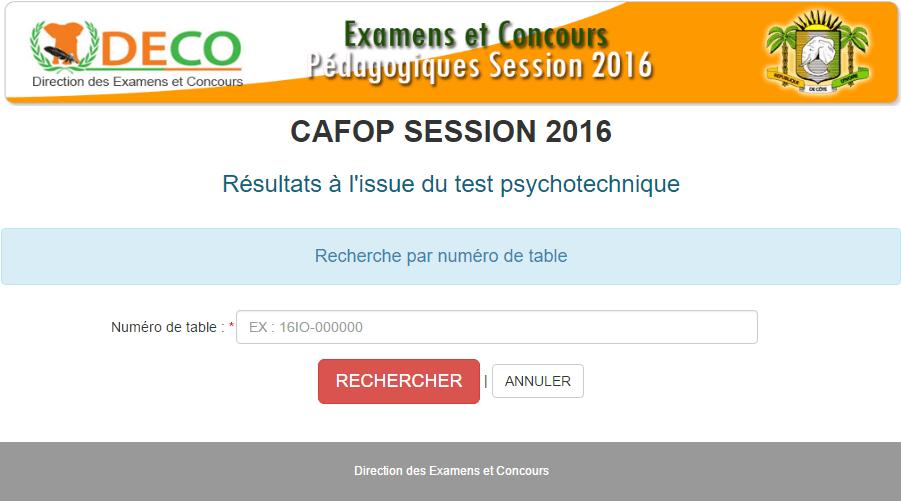 Résultats definitif CAFOP 2016-2017 côte d'ivoire Resultats Concours definitif CAFOP 1ER TOUR CAFOP 2016