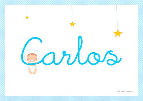 Lámina de bebe estrellas y luna niño
