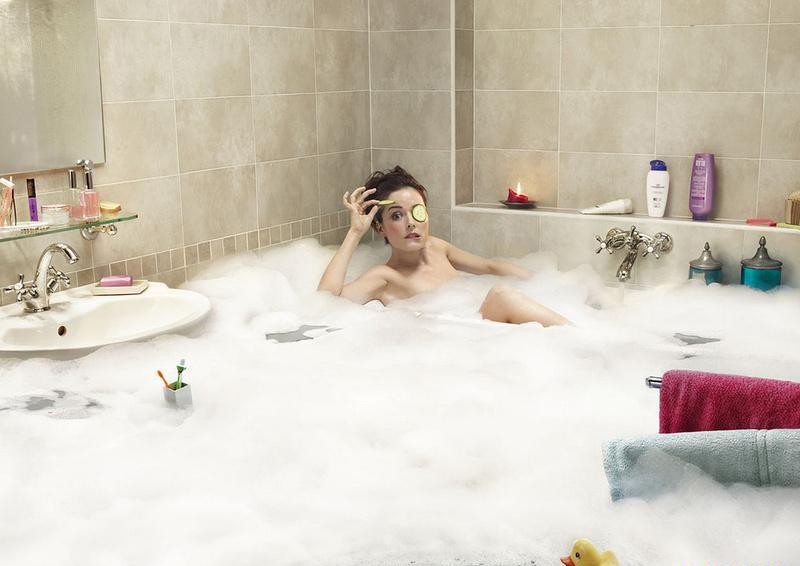 фотоальбомы девушек в ванной
