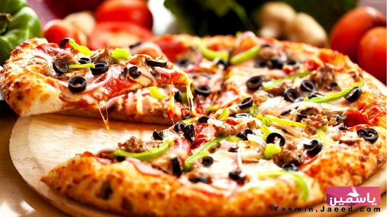طريقة عمل بيتزا الفصول الاربعة بالصور