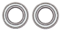 Both Front Wheel Bearings Kit Suzuki Twin Peaks LT-V700F 4x4 2004 2005