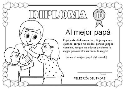 Diploma Día del Padre