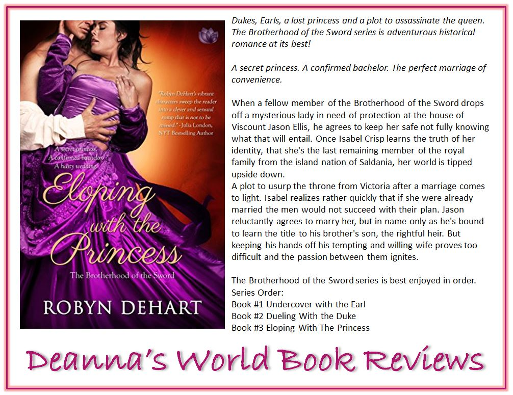 Eloping With the Princess by Robyn DeHart blurb