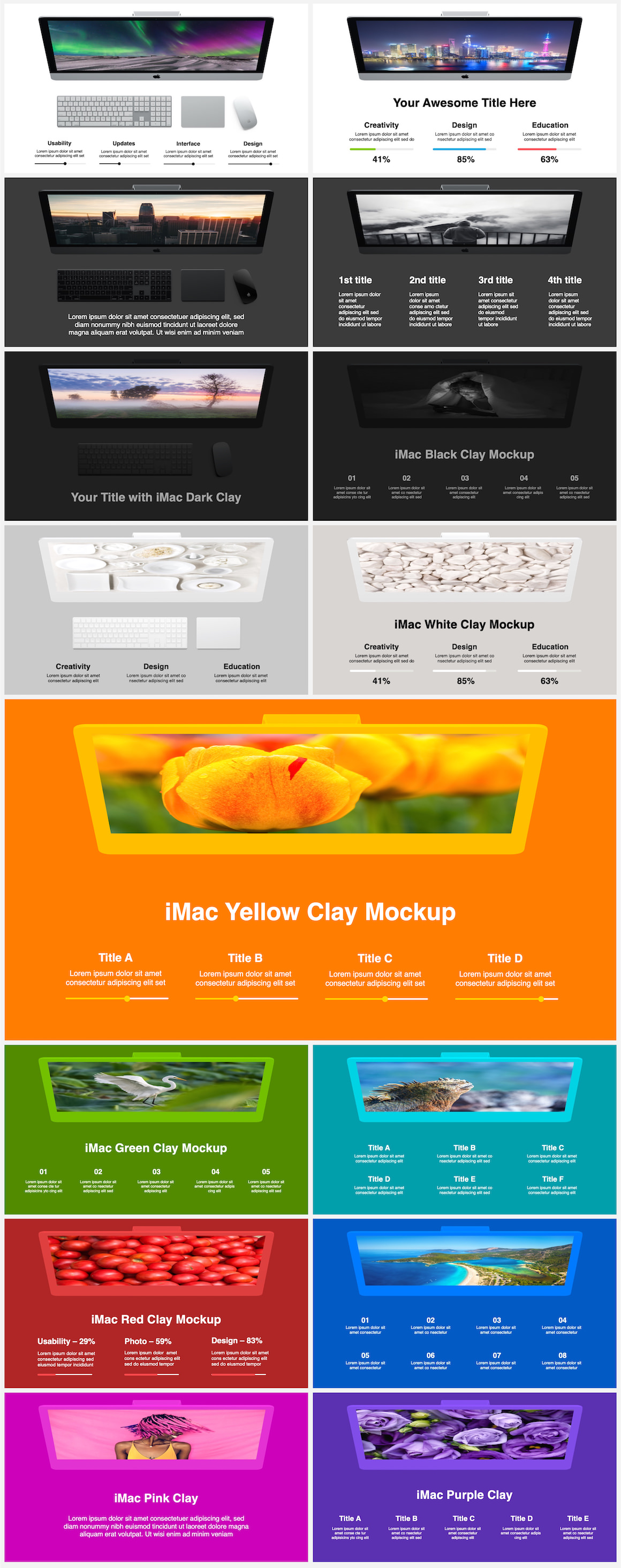 Huge Infographics Bundle! Lifetime Updates! PowerPoint, Photoshop, Illustrator. - 58