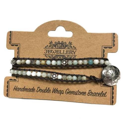 double wrap bracelets - amazonian & flower