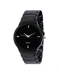 MyCross Analog Dark Black Round Dial Watch for Men