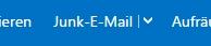 Möglichkeit zum Markieren der Mail als SPAM - unter outlook.com