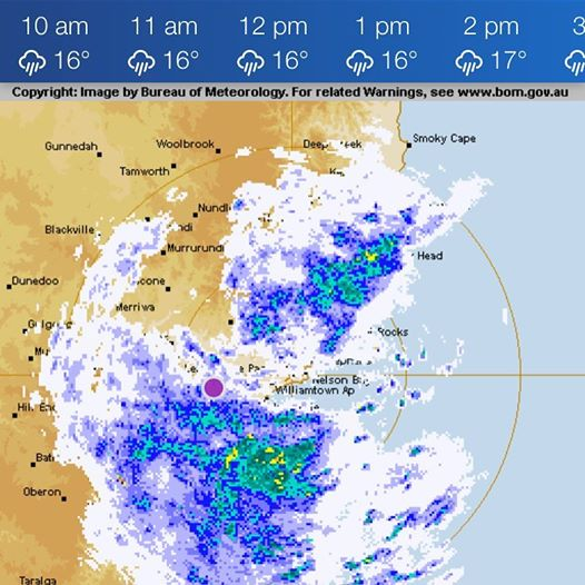 Weather rain radar Hunter region