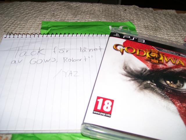 God of War III som jag fått låna