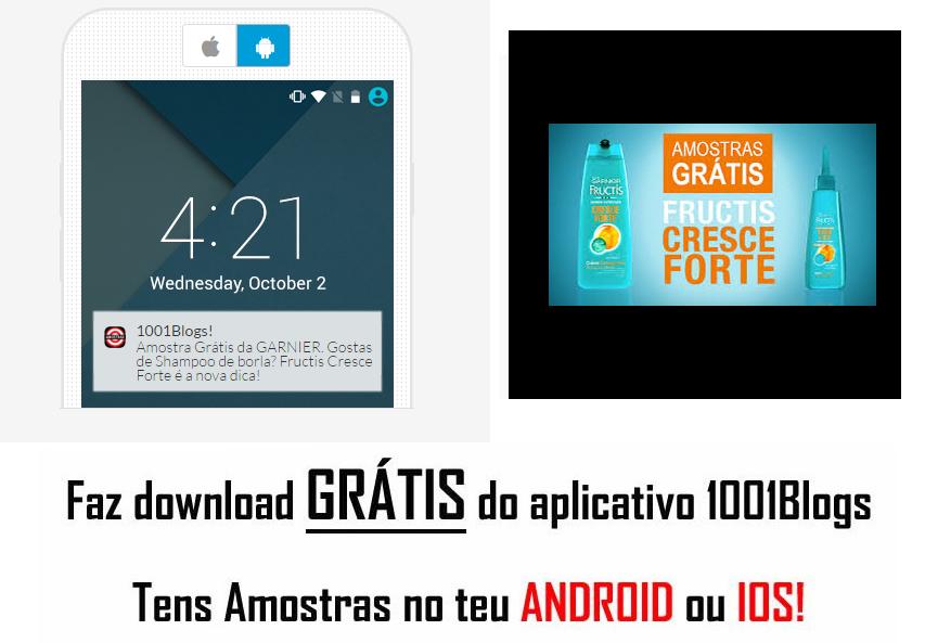 Amostra-  FRUCTIS Cresce forte Garnier  Cresc