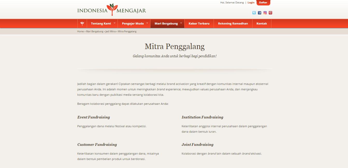 mitra penggalang indonesia mengajar