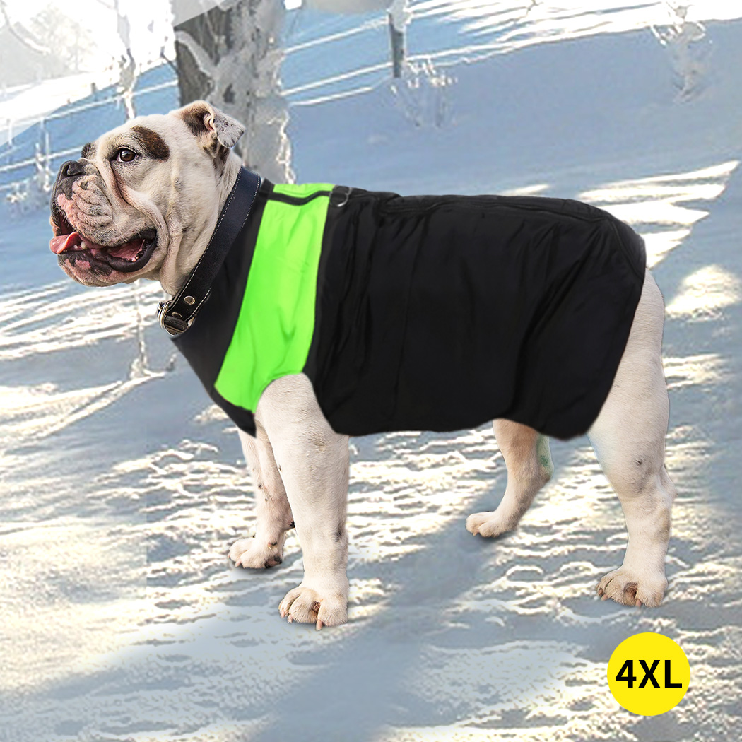 thumbnail 70 - PaWz Dog Jacket Large Pet Jackets Coat Waterproof Clothes Winter Vest Green