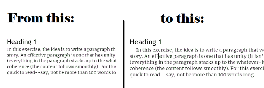 indenting paragraphs in google docs