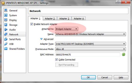 Ustawienie połączenia mostkowego w VMWare Player