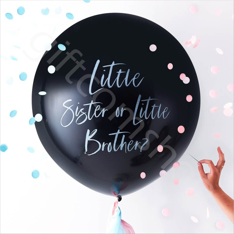 """Oh Baby Shower Giant 36"""" Gender Reveal Black Brother Or"""