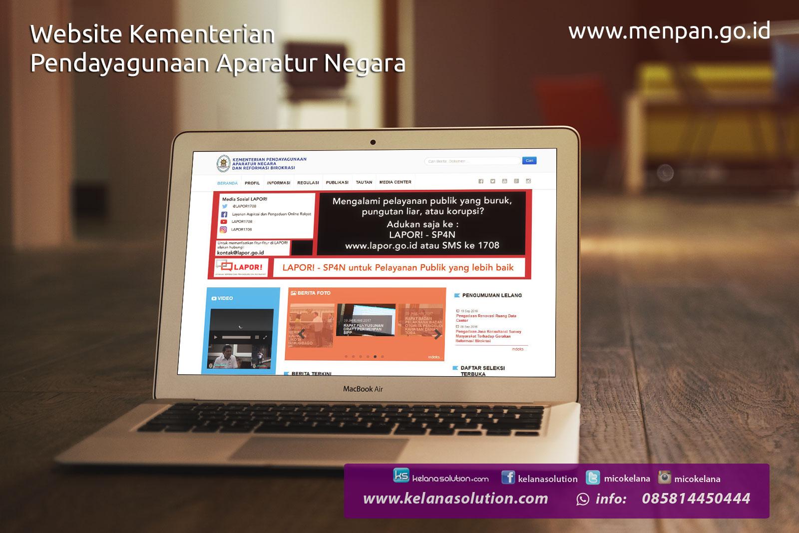 Jasa Pembuatan Website Pemerintah Kementerian PAN RB