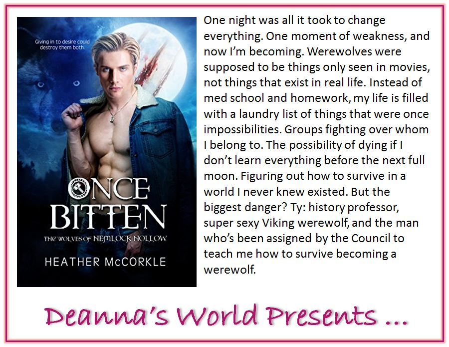 Once Bitten by Heather McCorkle blurb