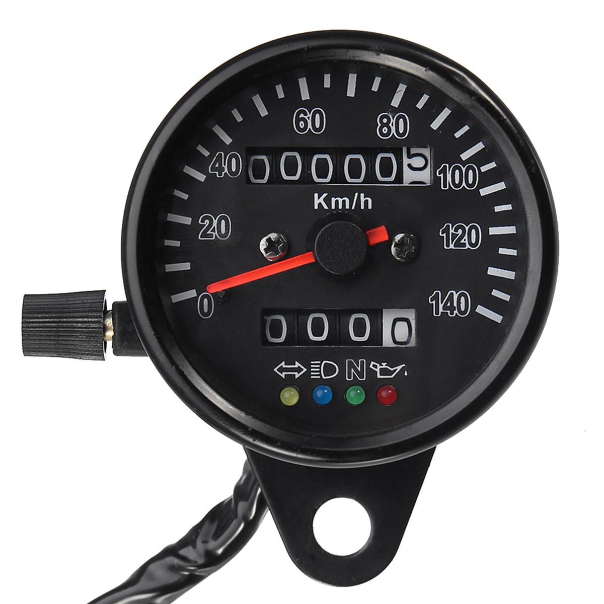 Bearings Motorcycle Speedometer Dual Odometer Gauge Led