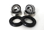 Front Wheel Bearings Seals Kit Harley FLTC Tour Glide Classic 1990 1991
