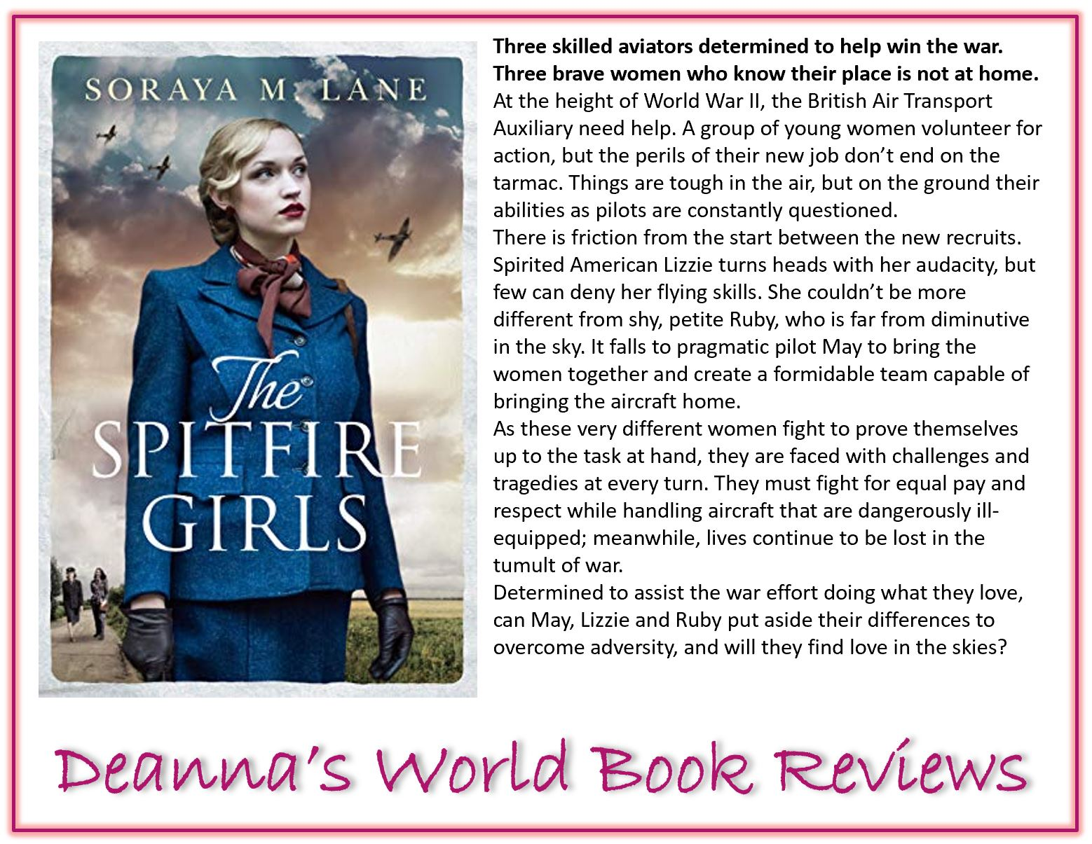 The Spitfire Girls by Soraya M Lane blurb