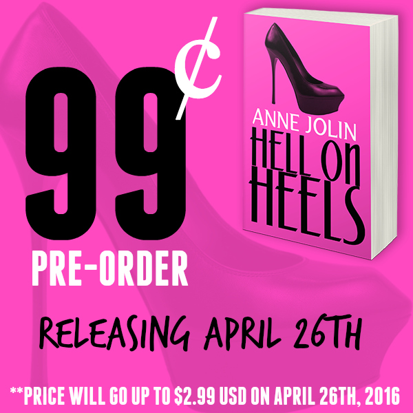 Hell on Heels by Anne Jolin banner