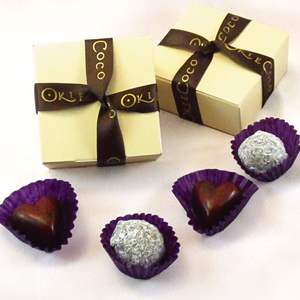 Okie Coco Chocolate Wedding Favours, Chocolate Banquets and Chocolate themed Hen Parties