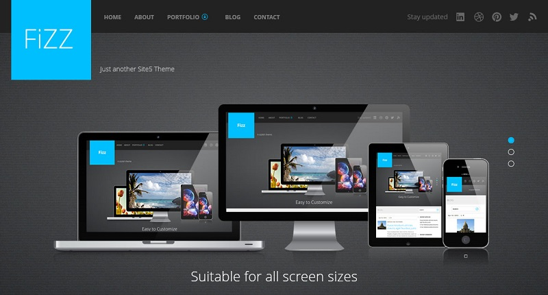 fizz - free wordpress theme