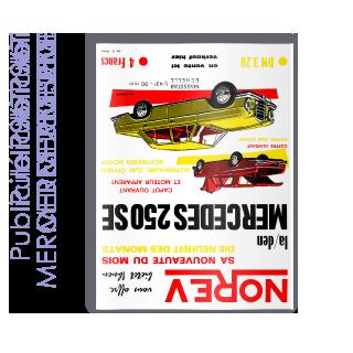 Publicité 1967 MERCEDES 250 SE
