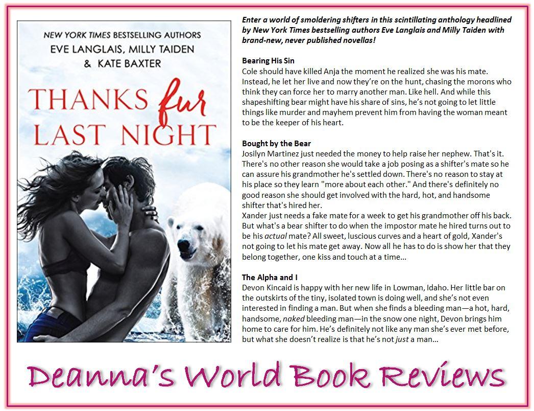Thanks Fur Last Night by Eve Langlais etc blurb