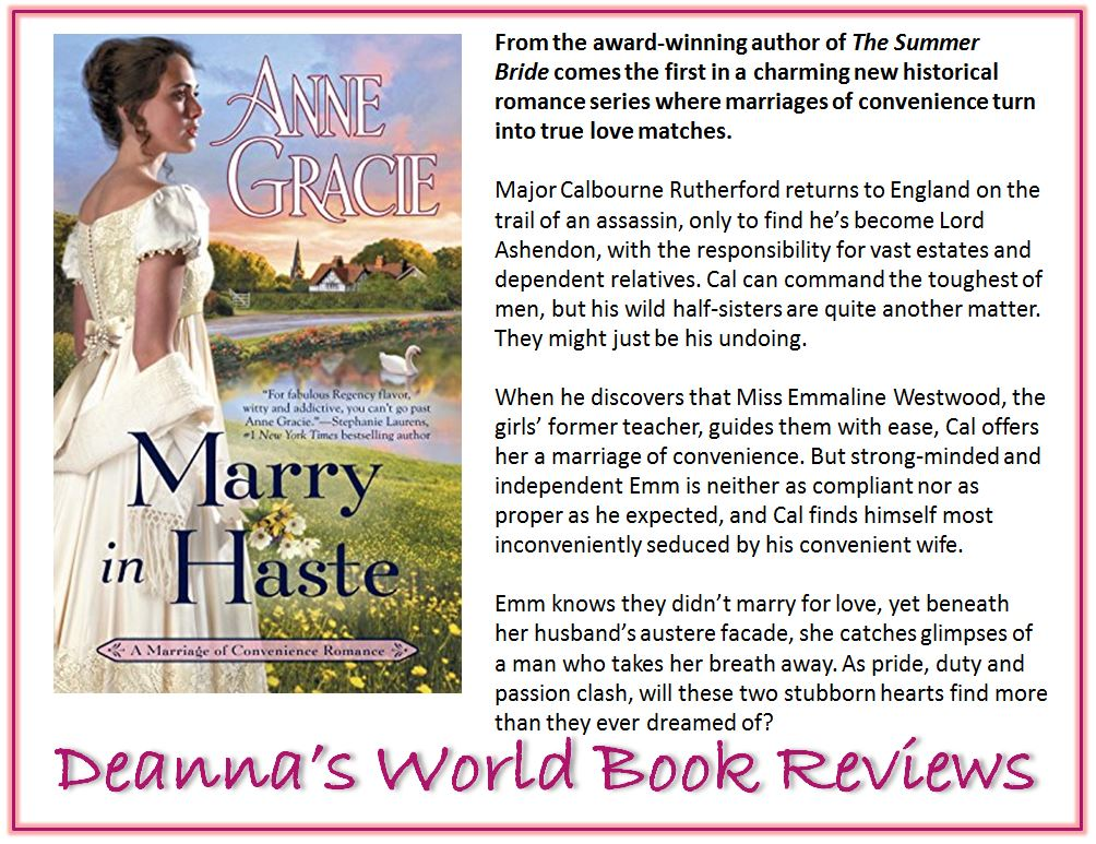 Marry In Haste by Anne Gracie blurb