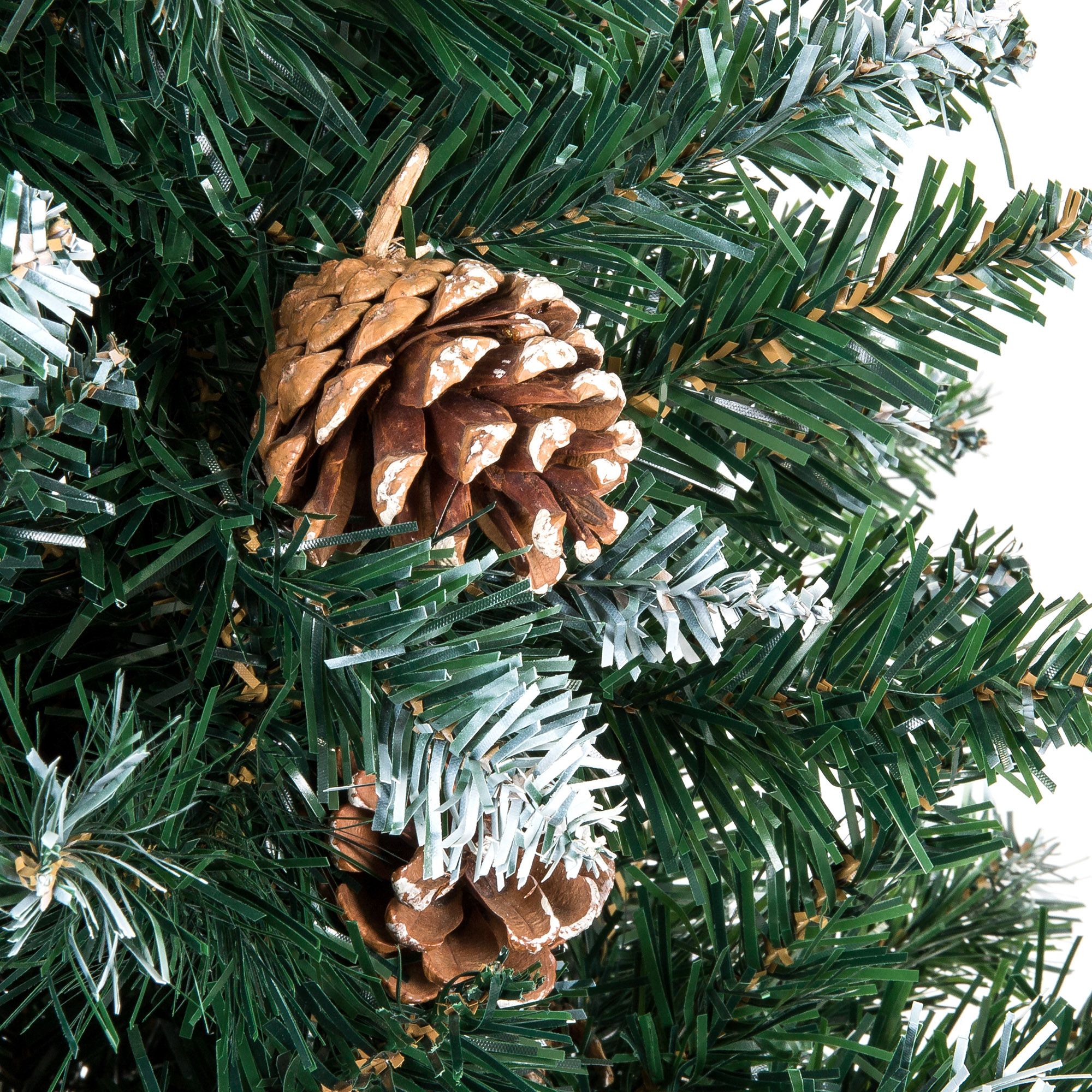 Artificial Christmas Tree With Pine Cones: BCP 6ft Artificial Hinged Christmas Tree W/ Snow Flocked