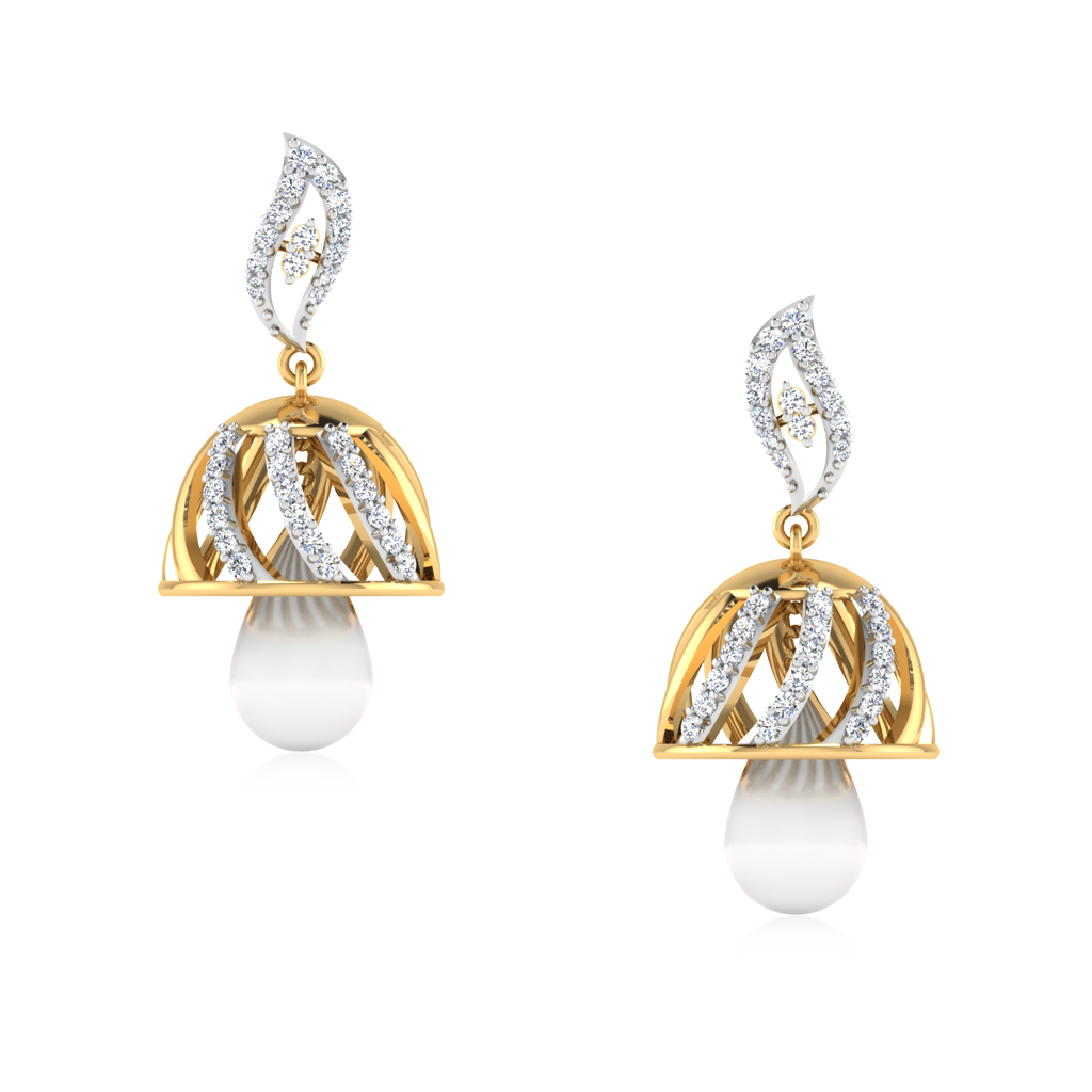 Ethereal Diamond Jhumkas