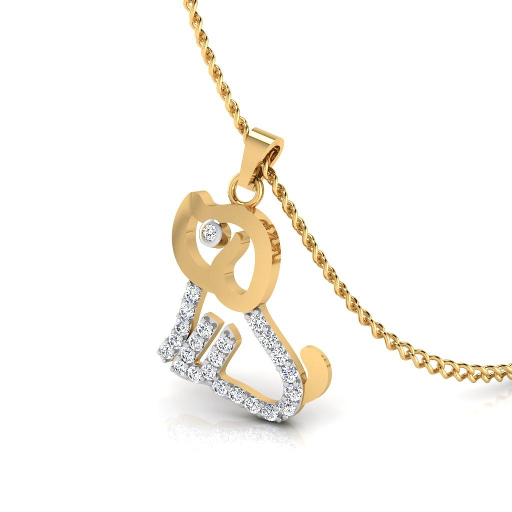 The Cute Dog Diamond Pendant