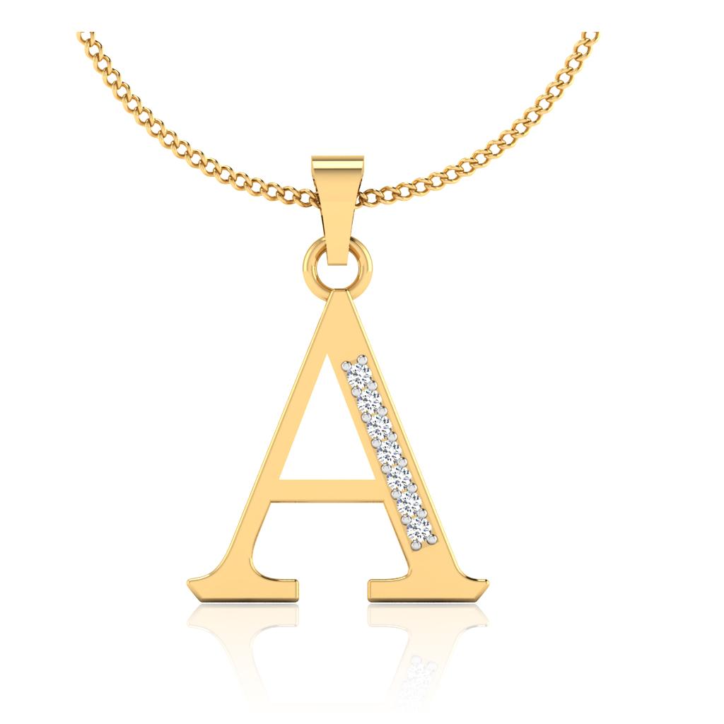The Elegant A Diamond Pendant