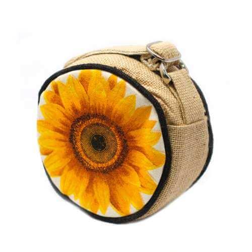round eco bag - sunflower