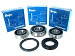 Boss Bearing 41-6277BP-8G3-B Premium Rear Wheel Bearings and Seals Kit Honda ...
