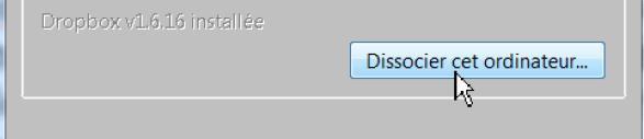 Dropbox - Détacher un ordinateur du réseau