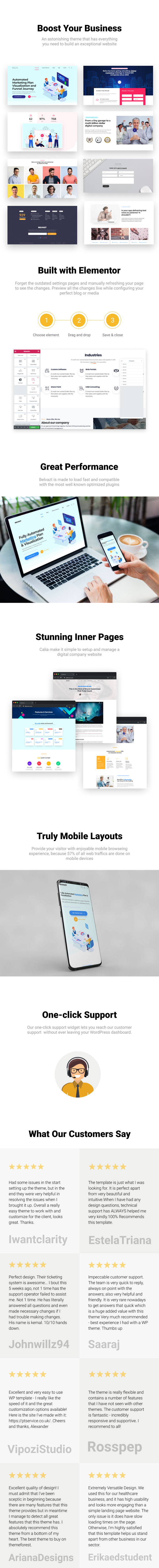 Belvazt - Marketing Agency and Software Company WordPress Theme - 1