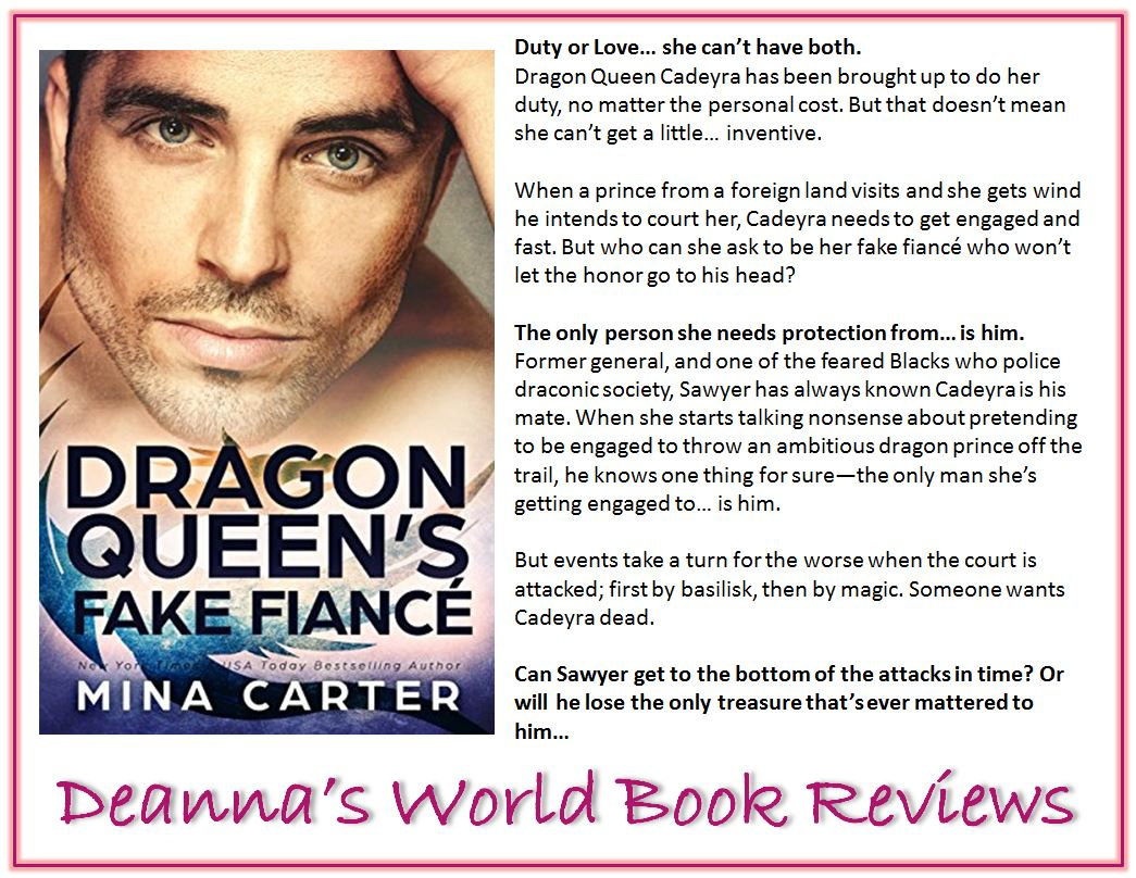 The Dragon Queen's Fake Fiance by Mina Carter blurb