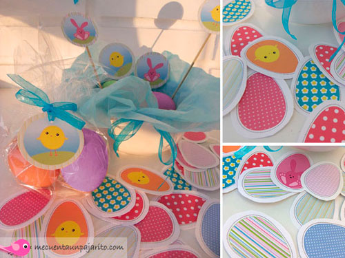 Huevos de pascua, etiquetas