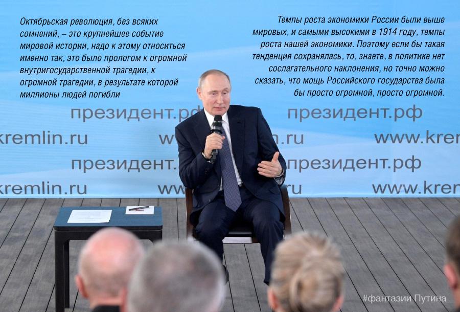 Сослагательный антисоветизм Путина в рассуждениях о революции 1917 года