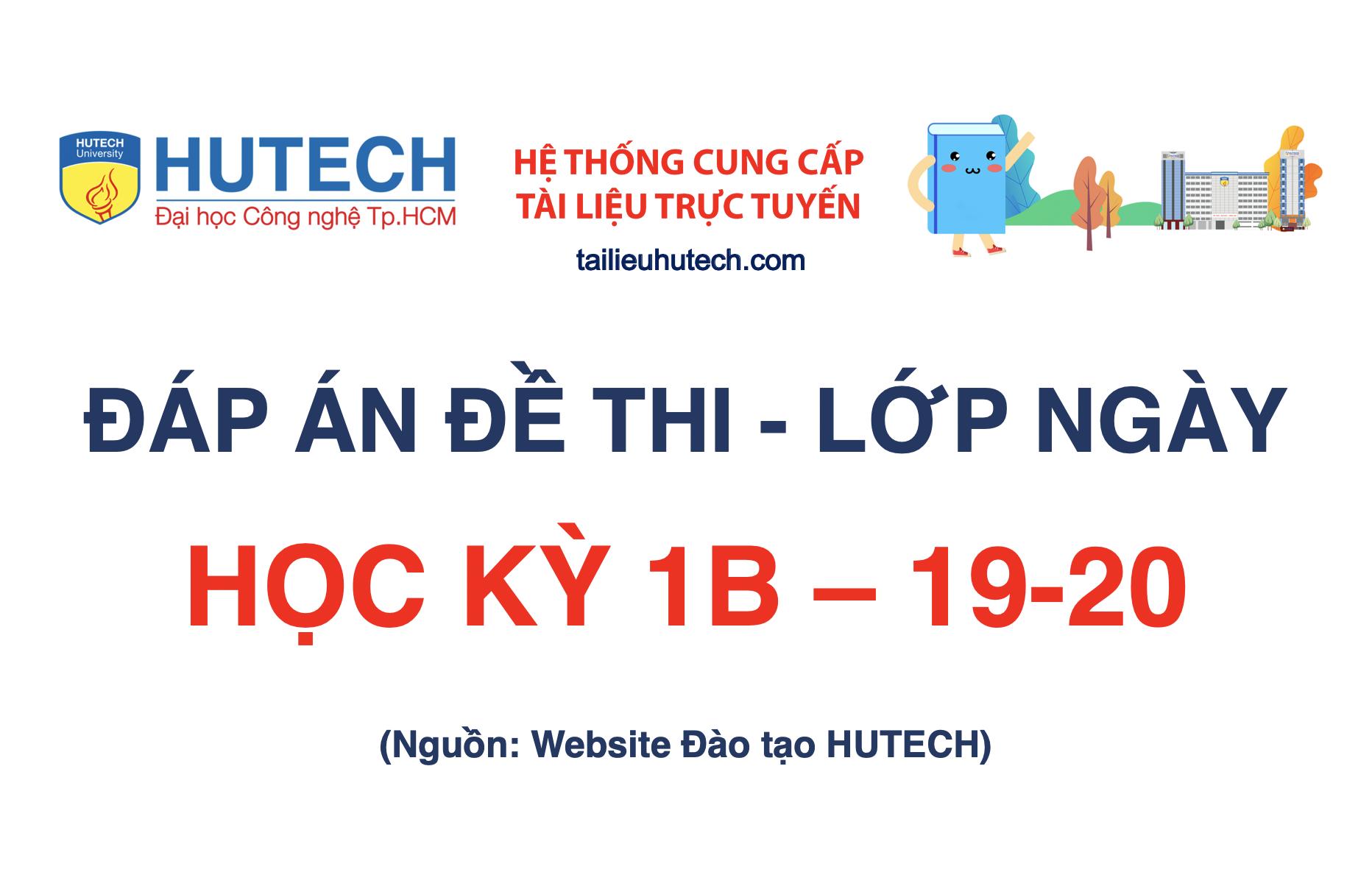 Đáp án HK 1B năm học 2019-2020_Lớp ngày