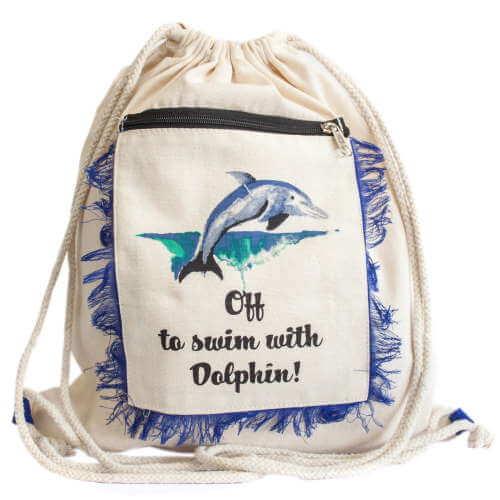 fringe backpack - dolphin